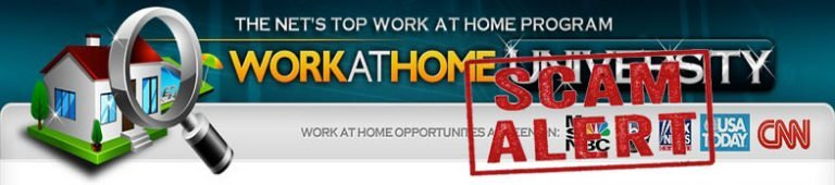 Work At Home University Scam – Similar Scams in the same fashion