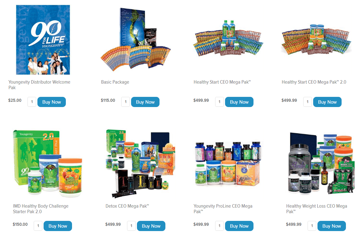 youngevity-products-pak