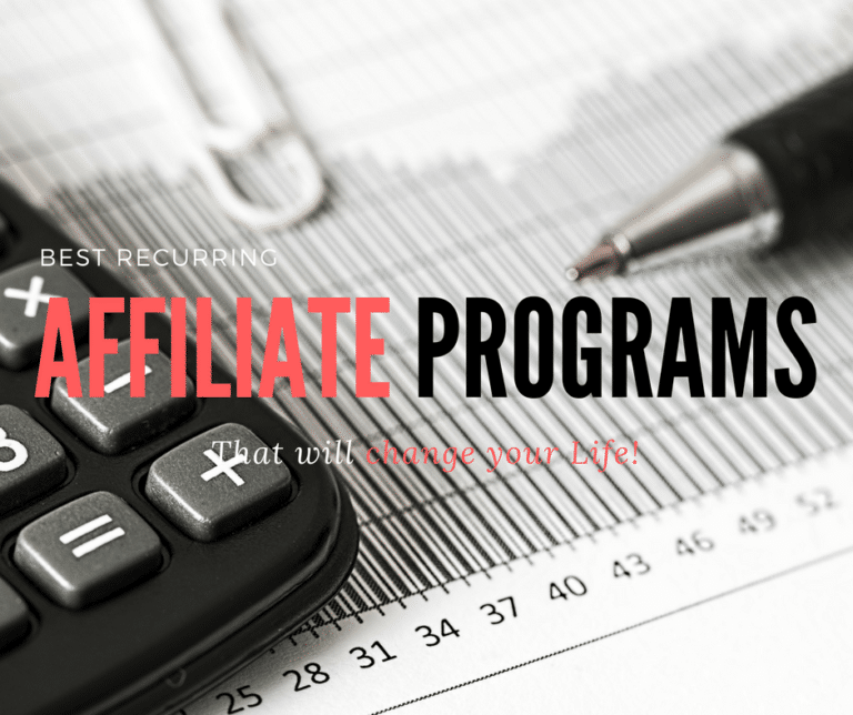 Best Recurring Affiliate Programs that will get you out of the rat race