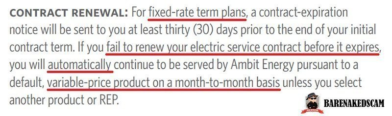 Ambit Energy - Fixed Rate Terms of Renewal