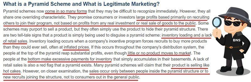 What is a pyramid scheme