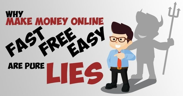 Why Make Money Online Fast, Free, Easy, and Guaranteed are Pure Lies!
