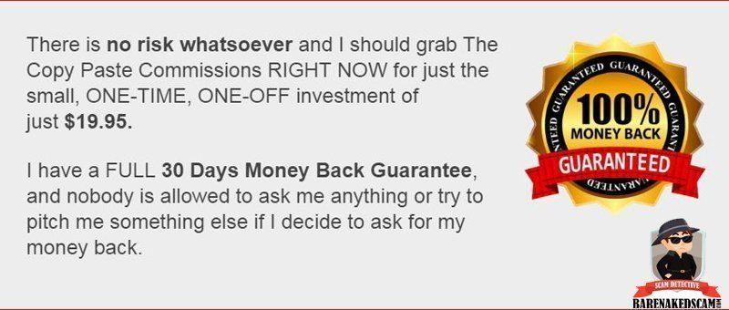 Copy Paste Commissions Money Back Guarantee