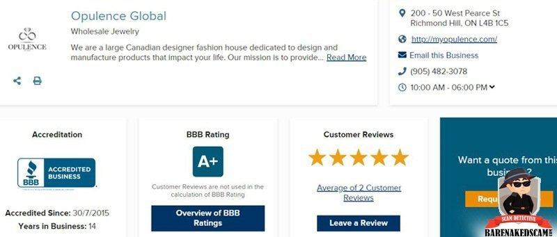 Opulence Global BBB Rating