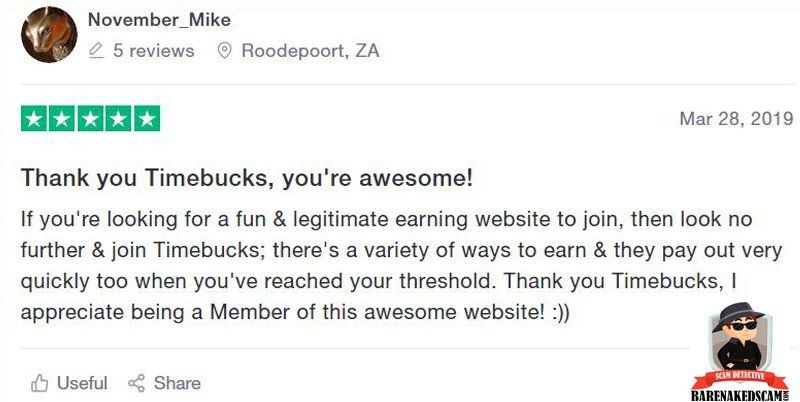 TimeBucks Good Review