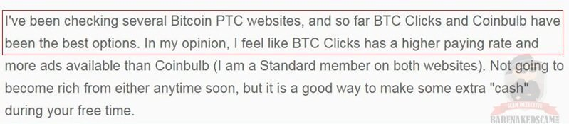 BTC Clicks Positive Review