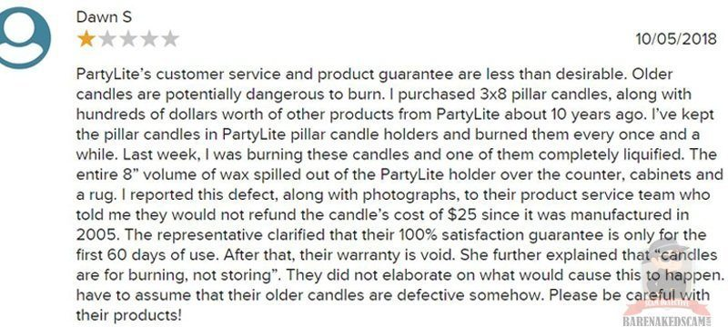 Customer Service By Partylite