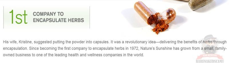NSP First Company To Encapsulate Herbs 1972