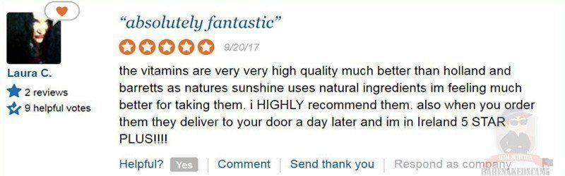 Natures Sunshine Products Reviews