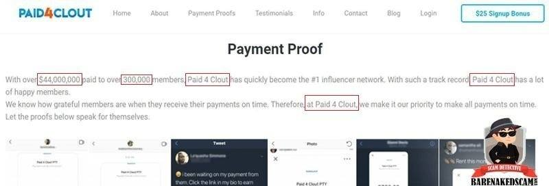 Paid4Clout Payment Proofs