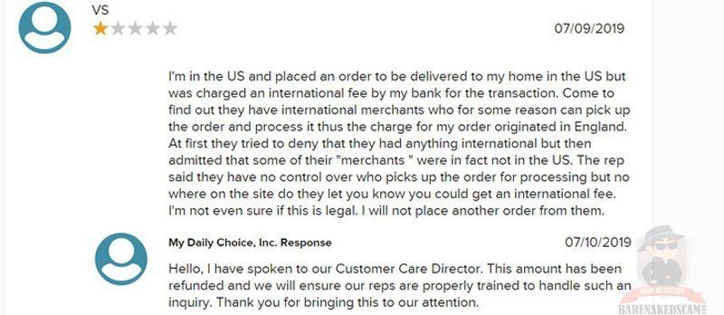 My Daily Choice Shipping Complaints