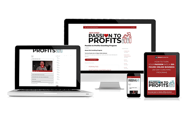 Passion to Profits Course e-Cover