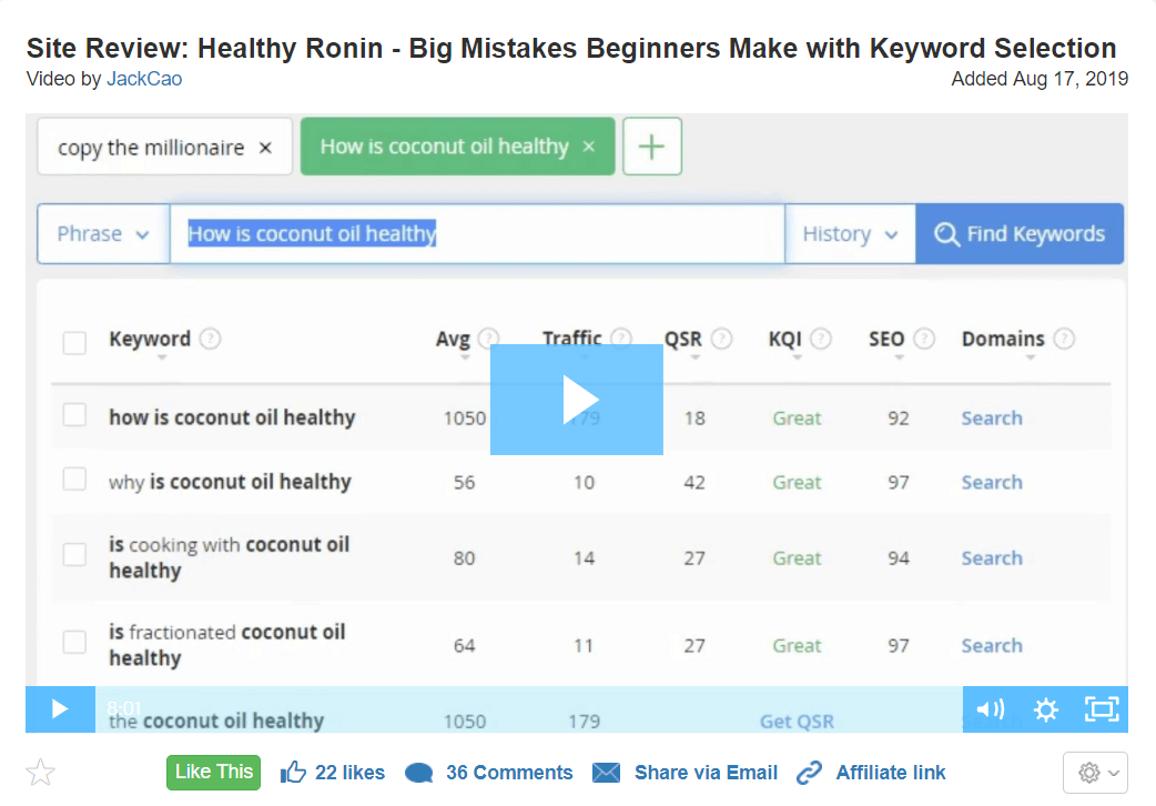 BNS Site Review - Healthy Ronin