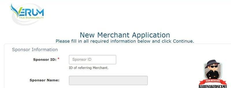 VERUM Merchant Application