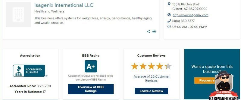 www-isagenix-com-better-business-bureau-rating
